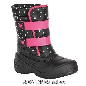Other - 3/$30  -5F Girls Polka Dot Hearts Winter Boot